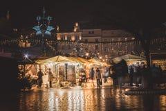 每年圣诞节市场 库存照片