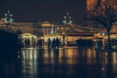 每年圣诞节市场 免版税库存图片