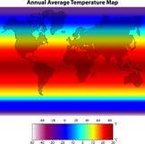 每年平均温度映射 免版税库存照片