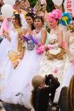 每年游行婚礼 库存图片