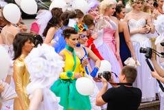 每年游行婚礼 免版税图库摄影