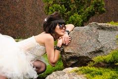 每年游行婚礼 免版税库存图片