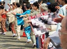 每年节日在Shin横滨日本 免版税图库摄影