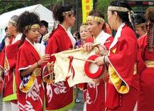 每年节日在Shin横滨日本 免版税库存照片