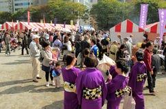 每年节日在Shin横滨日本 库存图片