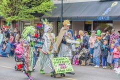 每年飞碟节日在McMinnville俄勒冈 免版税库存照片