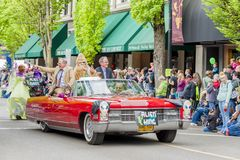 每年飞碟节日在McMinnville俄勒冈 免版税图库摄影