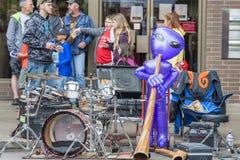 每年飞碟节日在McMinnville俄勒冈 免版税库存图片