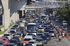 每日交通堵塞在曼谷 免版税图库摄影