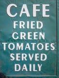 每日供食的油煎的绿色蕃茄 免版税库存照片