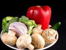 每日健康有机菜饮食的部分 图库摄影