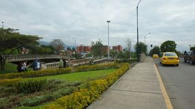 每日活动在三座桥梁的区域 免版税图库摄影