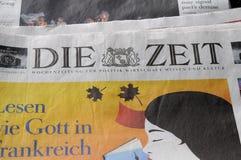 每日的德语死ZEIT纸 库存照片