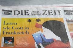 每日的德语死ZEIT纸 免版税库存照片