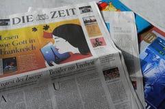 每日的德语死ZEIT纸 库存图片