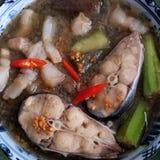 每日膳食的, mam kho越南食物 免版税图库摄影
