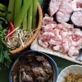 每日膳食的, mam kho越南食物 库存图片