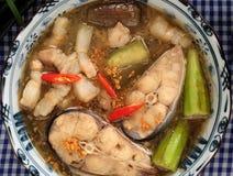 每日膳食的, mam kho越南食物 免版税库存图片
