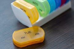 每日药片箱子 库存图片