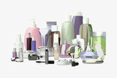 每日,秀丽关心化妆用品和构成产品 面霜, ey 免版税图库摄影