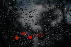 每滴雨珠是记忆 库存图片