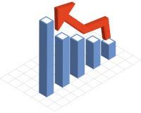 每年图表报表 免版税库存图片