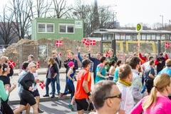 每年柏林半马拉松 berlitz 德国 库存图片