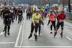每年第37场柏林半马拉松 库存照片