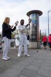每年第37场柏林半马拉松 免版税库存图片