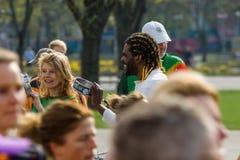 每年第37场柏林半马拉松 免版税库存照片