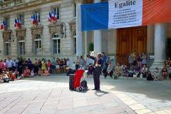 每年阿维尼翁剧院节日 库存图片
