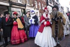 每年Dickensian圣诞节节日,罗切斯特英国 库存照片