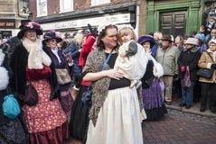 每年Dickensian圣诞节节日,罗切斯特英国 库存图片