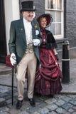 每年Dickensian圣诞节节日,罗切斯特英国 免版税库存照片