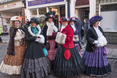 每年Dickensian圣诞节节日,罗切斯特英国 免版税库存图片