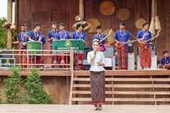 每年Lumpini文化节日的传统歌手 免版税库存图片
