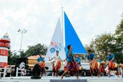 每年Lumpini文化节日的鼓舞蹈家 免版税库存图片
