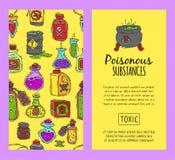 毒化学制品和物质无缝的样式传染媒介例证 液体的不同的容器上油,生物燃料 库存例证