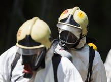 毒性化学制品和酸紧急队 免版税库存图片