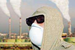 毒性和被污染的空气。 免版税图库摄影