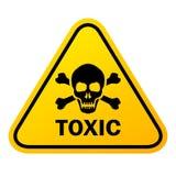 毒性头骨危险标志 向量例证