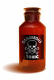 毒性瓶 免版税库存图片