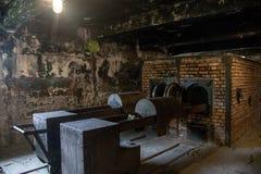 毒气室集中营奥斯威辛比克瑙KZ波兰 库存照片