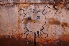 毒物和危险的头骨标志 免版税库存照片