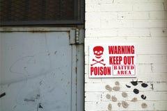 毒物标志 库存图片