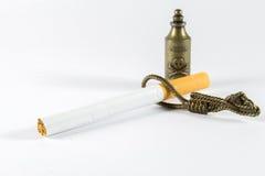 毒物非陷阱香烟! 免版税库存图片