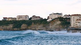 比亚利兹峭壁,法国的西南的 股票视频