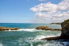 比亚利兹海岸线  库存图片