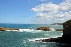 比亚利兹海岸线  免版税库存图片