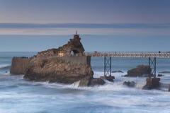 比亚利兹海岸 免版税库存照片